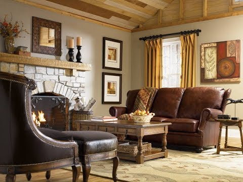 Living Room With Country Style Designs Ideas