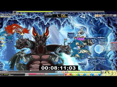 [Maple Story - Bellocan] HlGHFAT, Level 200 Jett Horntail Solo!