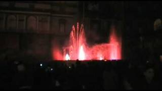 Dancing Christmas Fountain Naples Italy