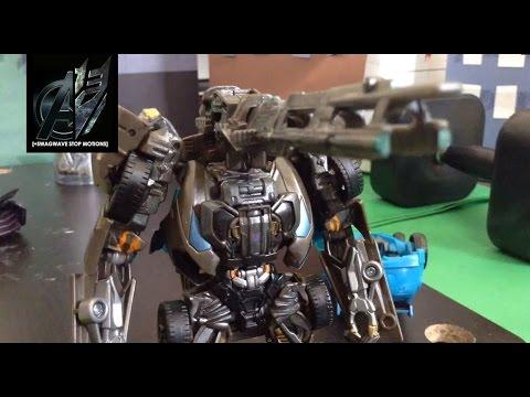 Transformers Age of Extinction Optimus Prime vs Lockdown Stop Motion
