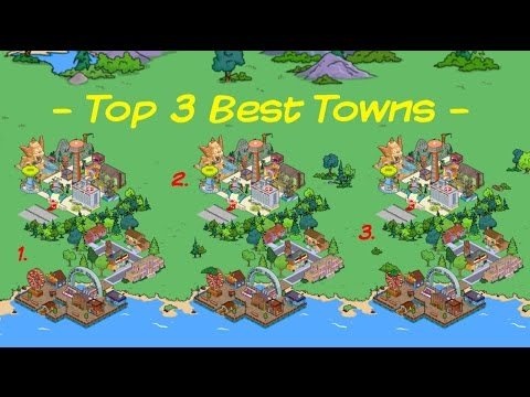 The Simpsons Tapped Out: Top 3 Best Towns Contes