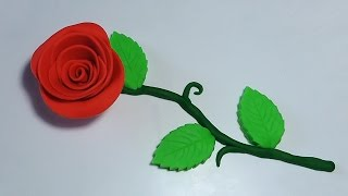 Play Doh How To Make a Rose Flowers