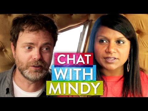 Rainn Wilson and Mindy Kaling (almost) make out!