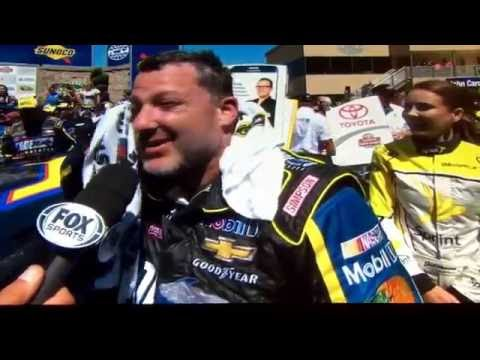 Tony Stewart in victory lane after Sonoma 2016