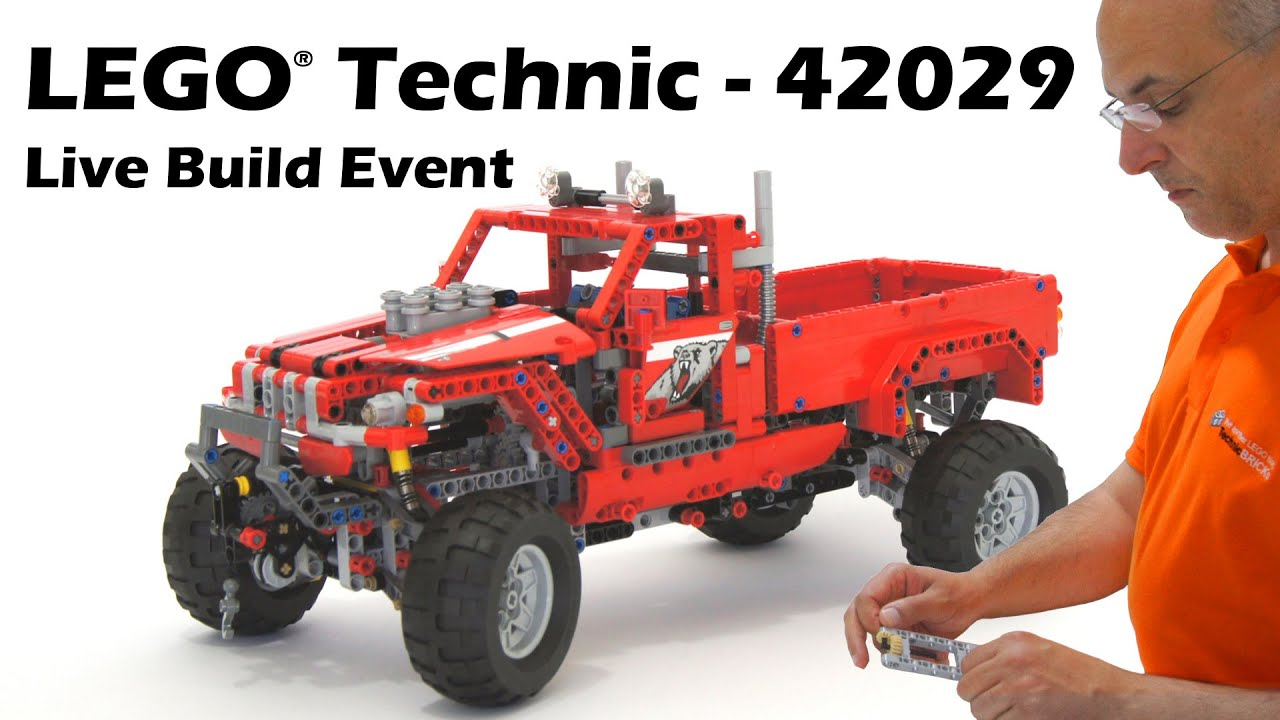 lego technic 42029 customized pick up truck live build. Black Bedroom Furniture Sets. Home Design Ideas