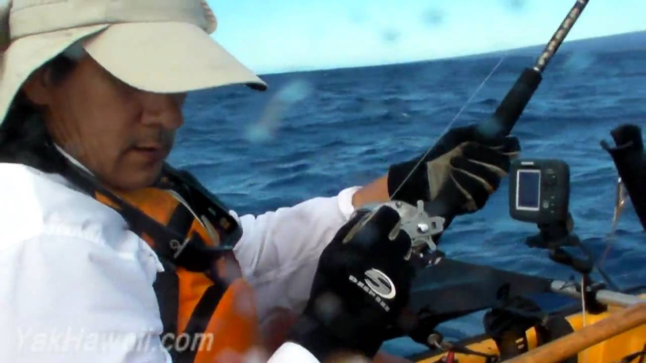 Kayak fishing hawaii ono landed shark eyes in youtube for Kayak fishing hawaii