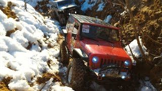 RC Jeep Wrangler JK unlimited snow trip - JKU experience