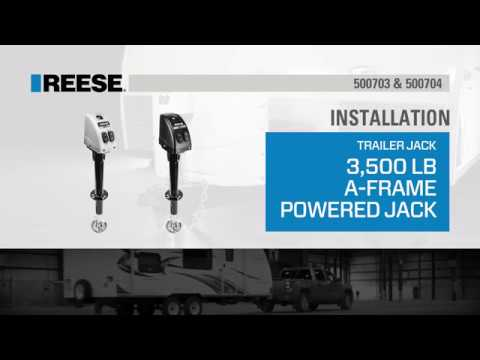 Installation: Reese® 3,500lb. A-Frame Powered Jack