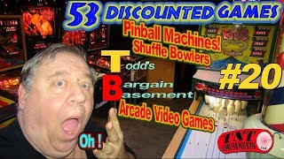 #1428 53 DISCOUNTED Arcade Games & Pinball Machines! BARGAIN BASEMENT #20 TNT Amusements