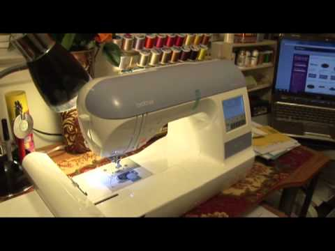 Brother PE 770 embroidery machine-Demo & Set Up 1 hour.