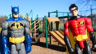 Joker Spies On Spider-man & Captain America And Finds Magical Dagger With Batman At Playground