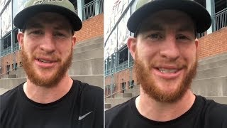 Carson Wentz Thrilled With Philadelphia Eagles 128 Million Contract Extension!