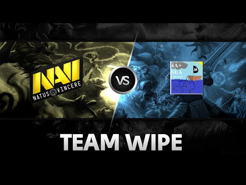 Team wipe by Na'Vi vs 4 Anchors + Sea Captain @XMG Captains Draft Season 2