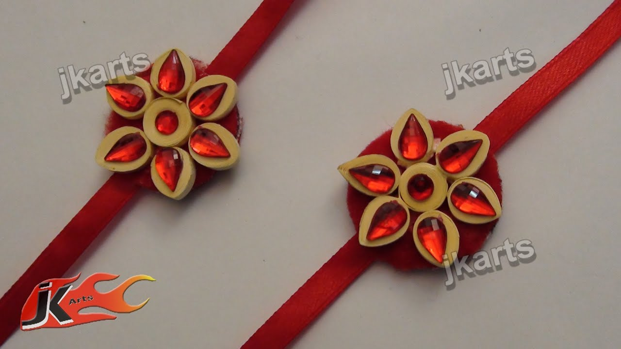 Diy paper quilling rakhi for raksha bandhan how to make for How to make a home decorations
