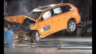 Ez történik, ha 80-nal mész falnak - Volvo XC90 nyilvános törésteszt