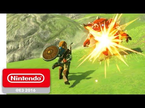 The Legend Of Zelda: Breath Of The Wild - Exploration Gameplay - Nintendo E3 2016