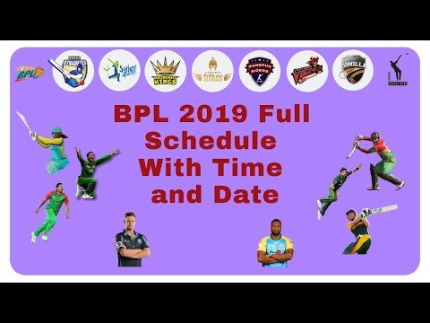 BPL 2019 Schedule - Fixtures - Matches - Venue - Time and Date