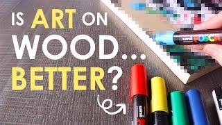 DRAWING on WOOD?! - Mystery Art Supplies Paletteful Pack
