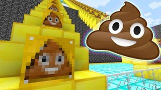 PRESTONPLAYZ GETS POUNDED! Funny Lucky Blocks Poop Emoji Stairs Race Mini-Game Mods