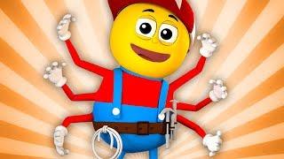 Incy Wincy nhện | trẻ em bài hát | Baby Rhymes | Incy Wincy Spider