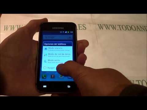 Resetear Samsung Galaxy S Scl I9003 a modo fábrica - restablecer - reset