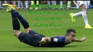 Funny compilation World Cup 2014 Netherlands-Spain 5-1 (first half)