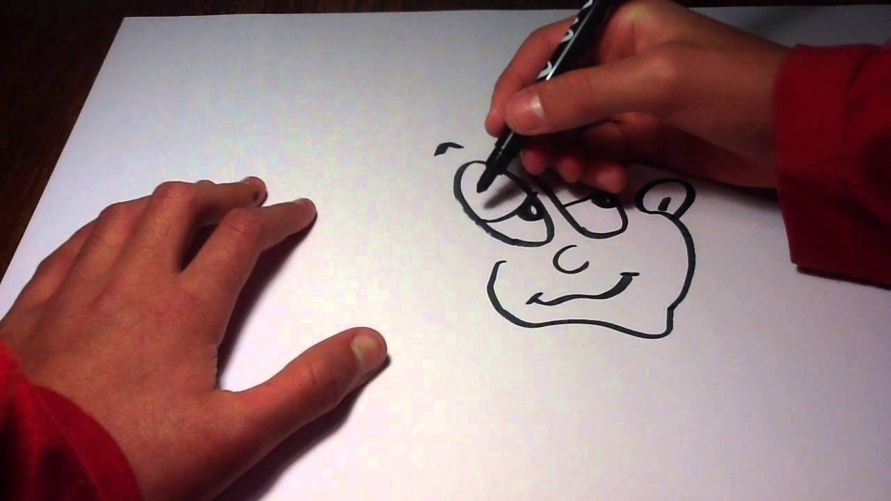 Faire un visage facon cartoon astuce de dessin youtube - Dessin cheval facile faire ...