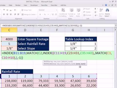 Excel Magic Trick 762: Two Way Lookup from Multiple Tables & Lookup Tables Sorted Descending