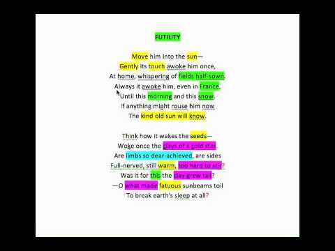 critical analysis of wilfred owen s poem This poem as all of owens poems refers back to world war i in which he fought in   the dead-beat analysis wilfred owen critical analysis of poem, review.