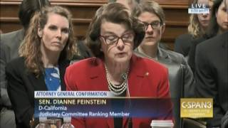 SEN FEINSTEIN SPEAKS AT JUDICIARY MEETING RE SESSIONS   01 31 2017