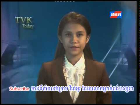 TVK Khmer l TVK English News 27042015 l