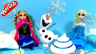 FROZEN Olaf Poops Shopkins! Play Doh Surprise Eggs for kids