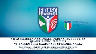 Assemblea Nazionale Elettiva FIDASC quadriennio 2021/2024