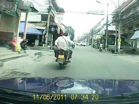 Drive Along Sukhumvit Road Pattaya Thailand into Soi Khao Noi
