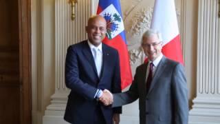 Entrerien du President Martelly avec M Claude Bartolon, France