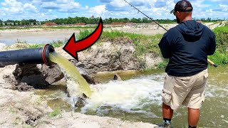 FISHING INSIDE PIPE for TRAPPED DYING FISH!