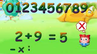 2+9=?, Math practice for kids, easy learning!