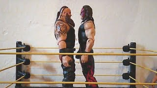 Monster Battle! Braun Strowman vs. Kane: WWE Action Figure Stop Motion