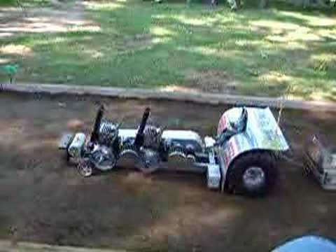 2 chainsaw motors on a tractor