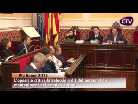 SELECCIÓ A DIT DEL PERSONAL DE MANTENIMENT DEL CAMP DE FUTBOL