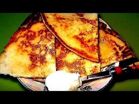 Рецепт вкусного завтрака. Лепешки с творогом. Готовить 7 минут.