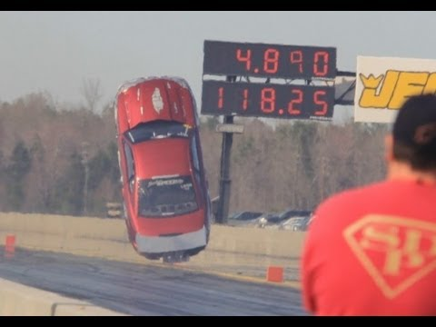 Nyce1s - Insane Twin Turbo Mustang Goes Airborne @ Lights Out 4 - Driver Jere Etheridge....