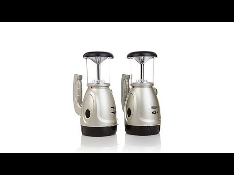 2pack of HandCrank Searchlight Lanterns with USB Chargers
