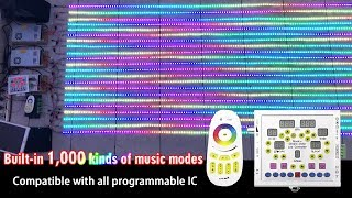 Built-in 1,000 kinds of music modes, LED Music RF SPI Controller