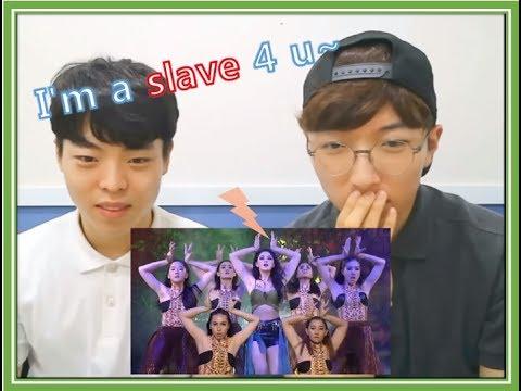 Download Korean men react ใหม่ ดาวิกา - I'm a Slave 4 U | Lip Sync Battle Thailand Mp4 baru