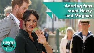 Adoring fans meet Prince Harry and Meghan in Brighton
