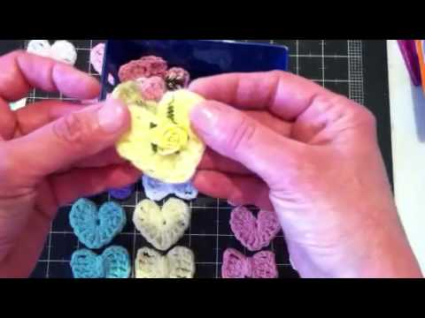 Crochet Bows & Hearts For Sale