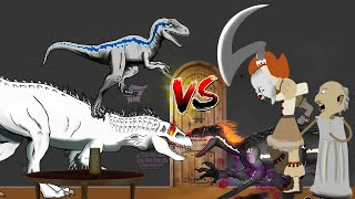 Dinosaurs Battle | Granny, Pennywise  VS Jurassic World  Dinosaurs | Horror Story-Granny Animation