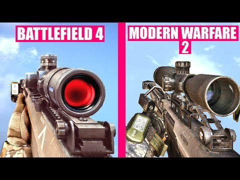 Battlefield 4 Gun Sounds vs Call of Duty Modern Warfare 2