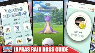 TOP SHINY LAPRAS COUNTERS + RAID GUIDE TO BEAT THE WATER ICE RARE RAID BOSS | Pokemon Go